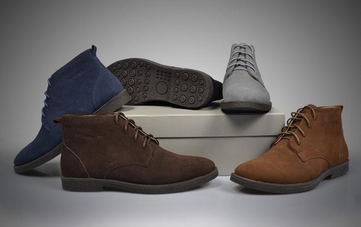 Męskie buty trzewiki zamszowe za kostkę brąz szary czarny